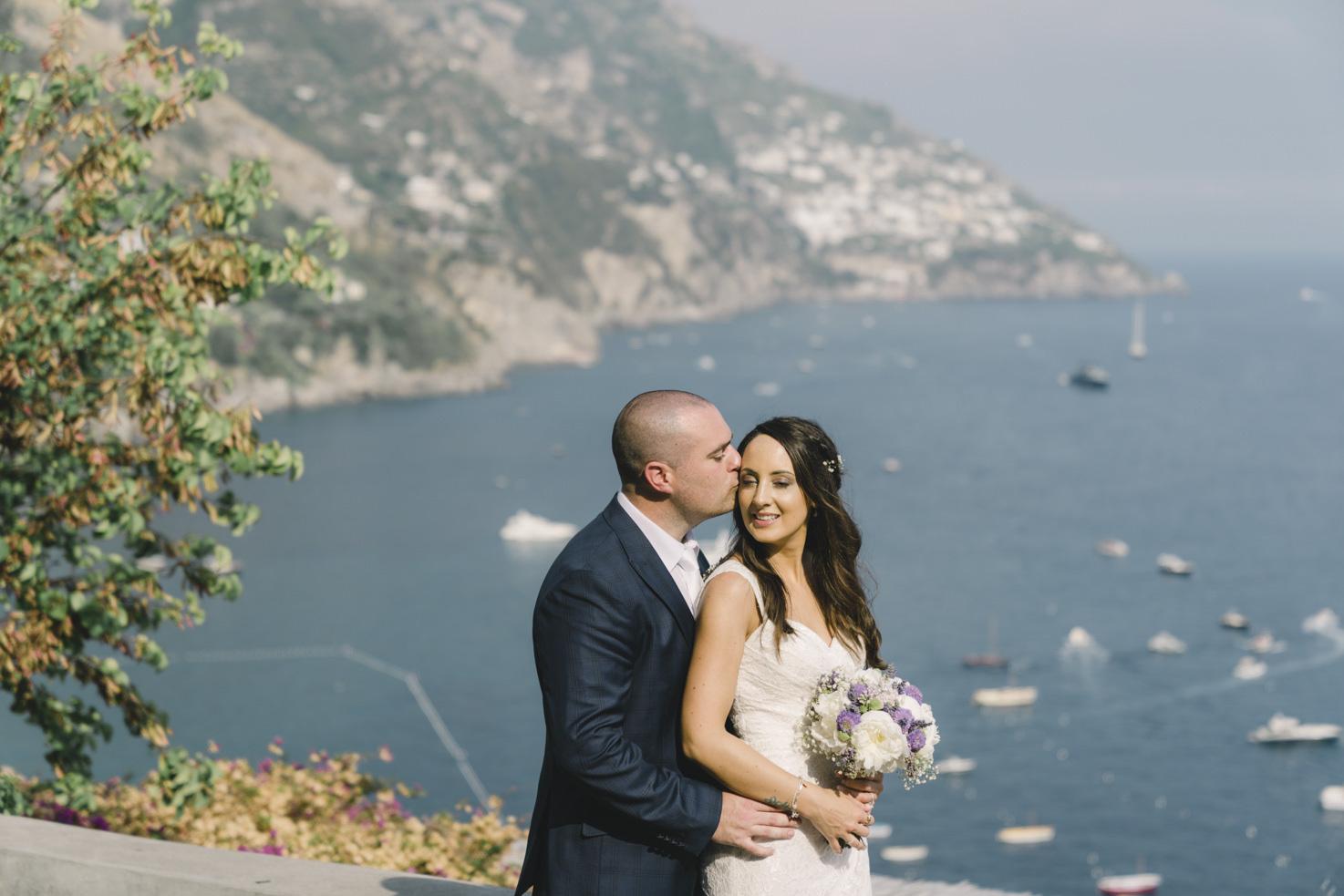 Newlyweds in Positano