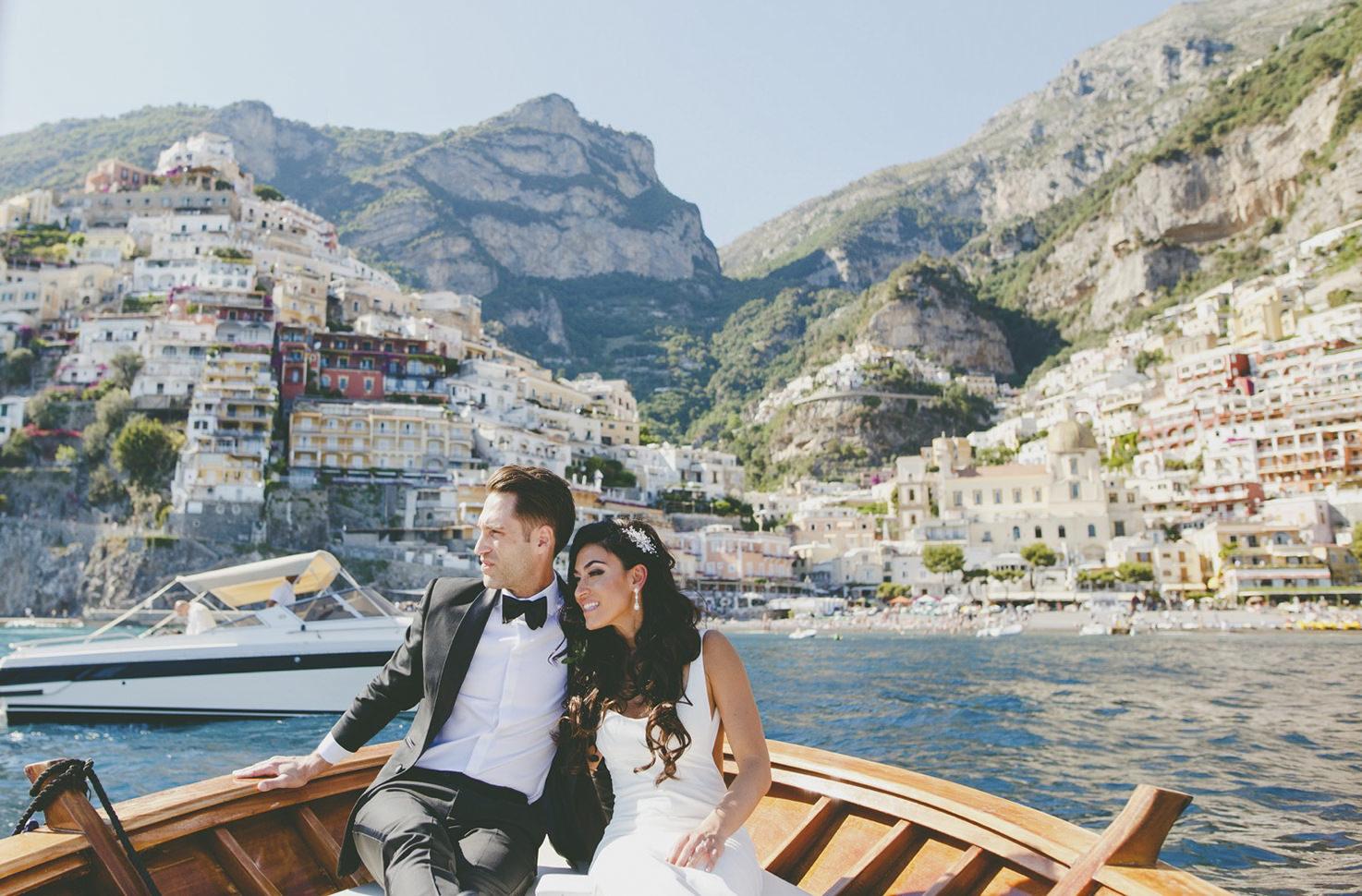 Bridal couple in Positano