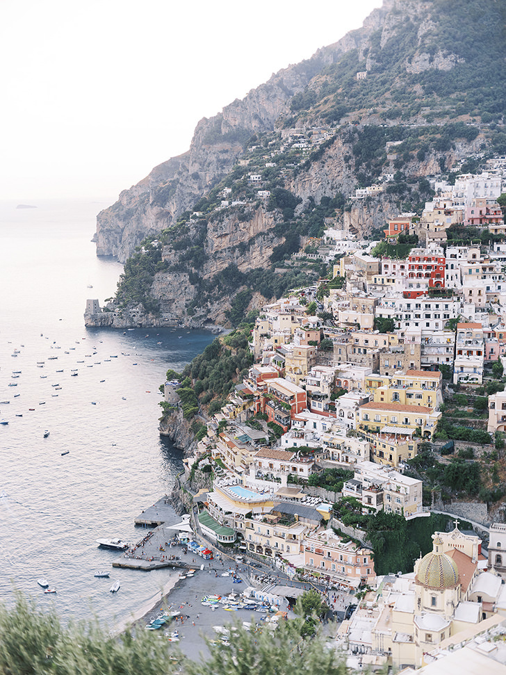 Aerial view of Positano