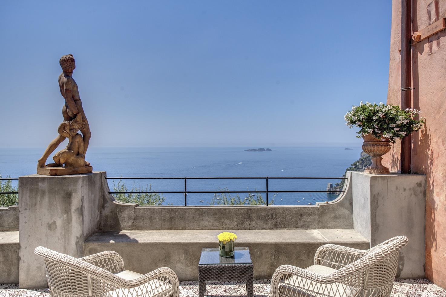 Fantastic sea view from Positano private villa