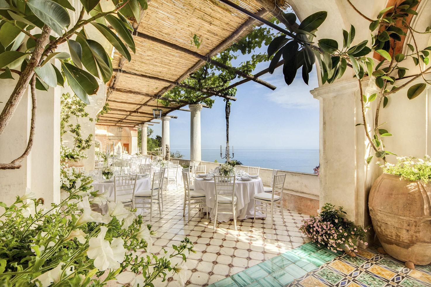 Wedding reception at Positano private villa
