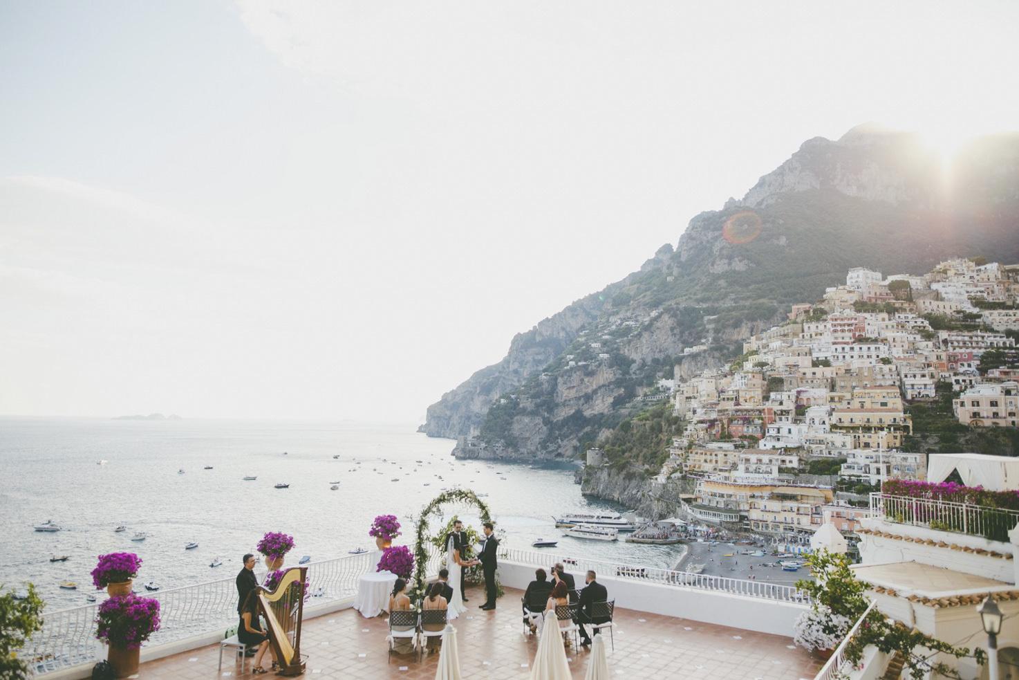 Symbolic ceremony in Positano