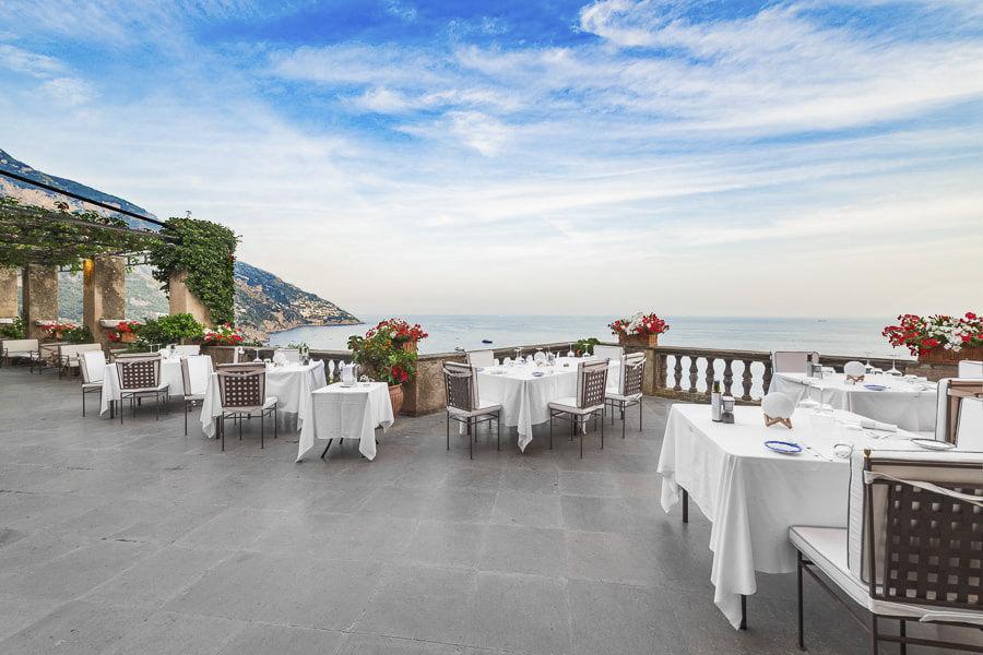 Terrace restaurant of Villa Magia