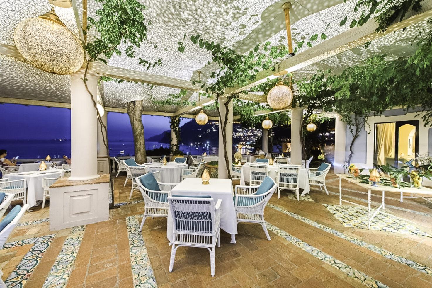Terrace restaurant at Villa Treville