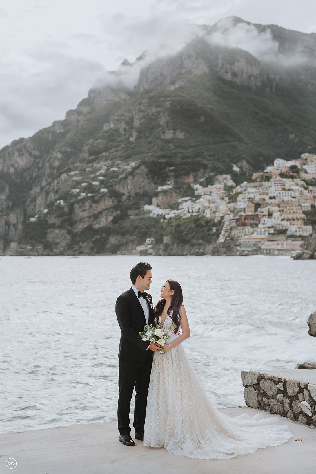 Wedding portrait in Positano