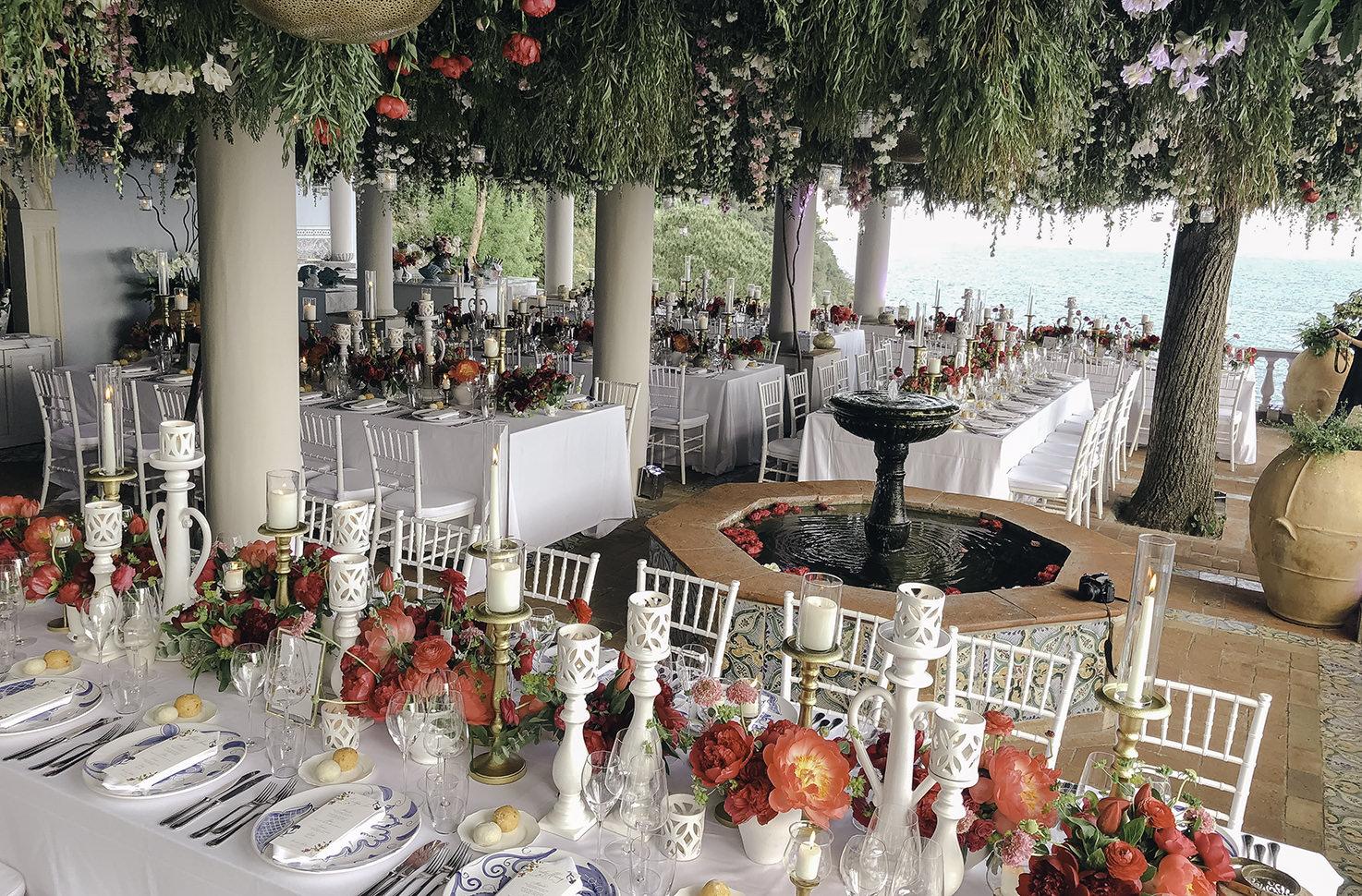 Wedding reception at Villa Treville, Positano
