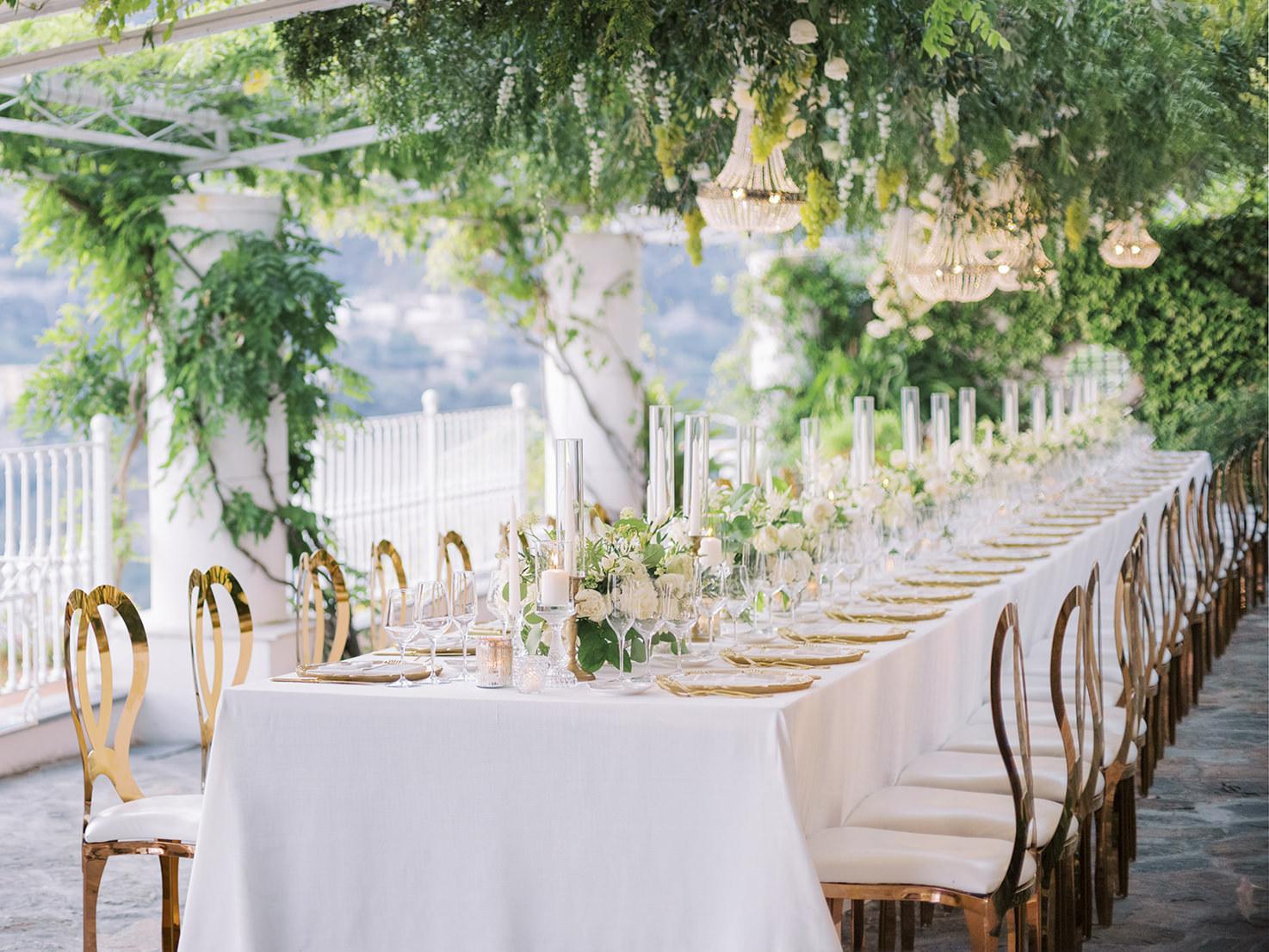 Wedding reception at Villa Oliviero