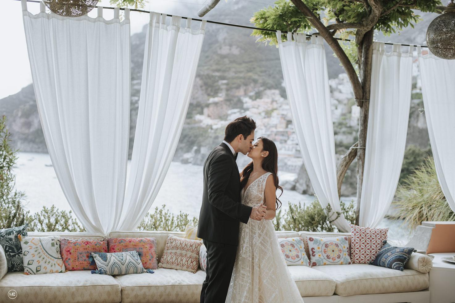 Bridal couple at Villa Treville