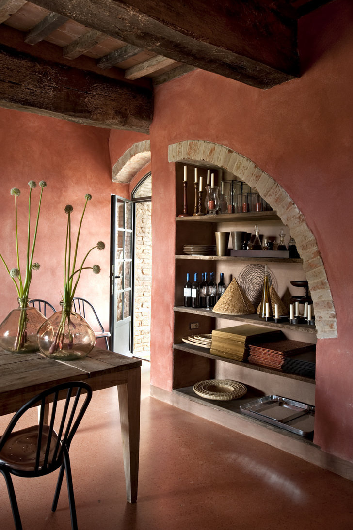 Interior of Tuscan Villa