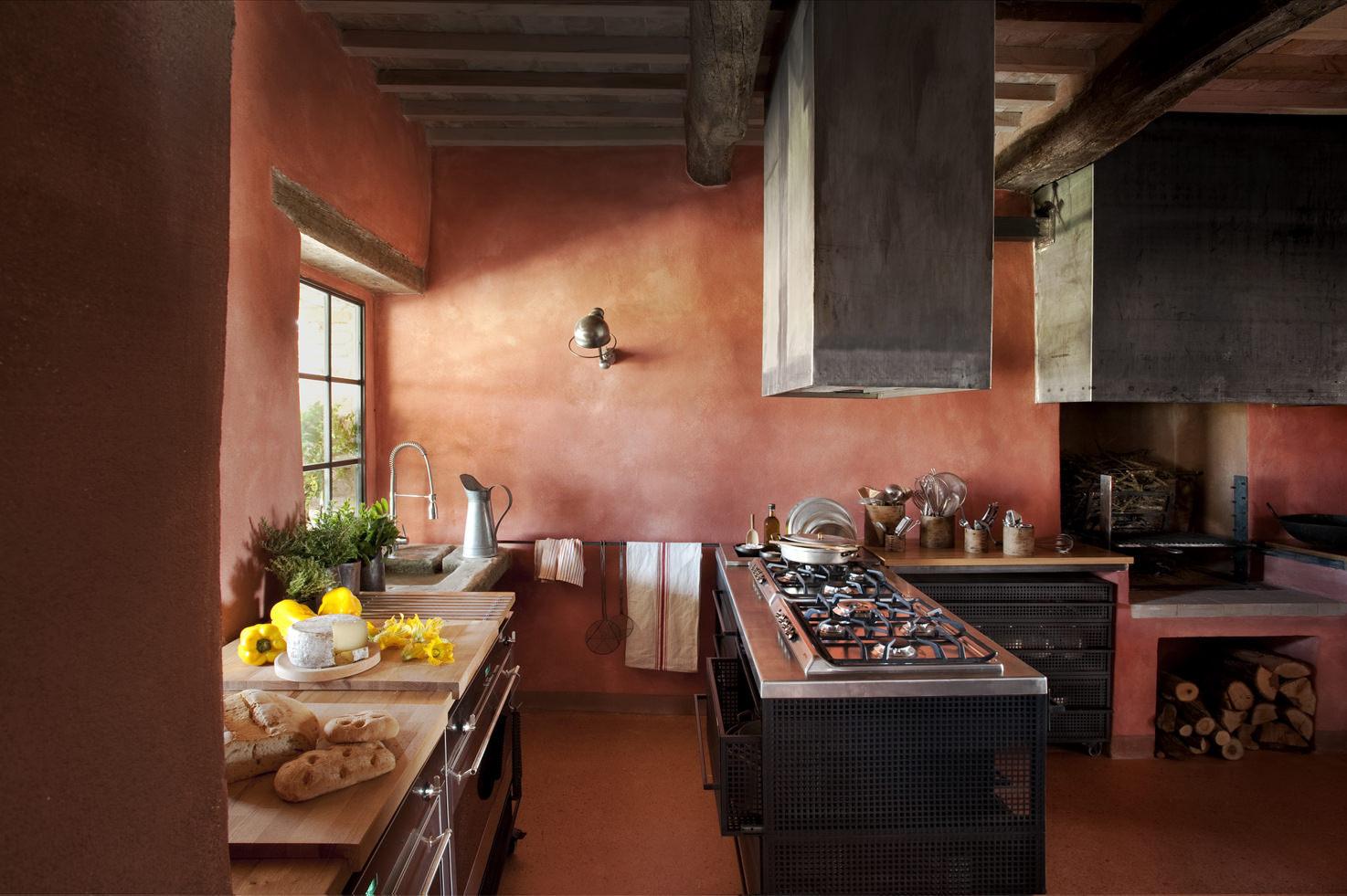 Kitchen of Tuscan Villa