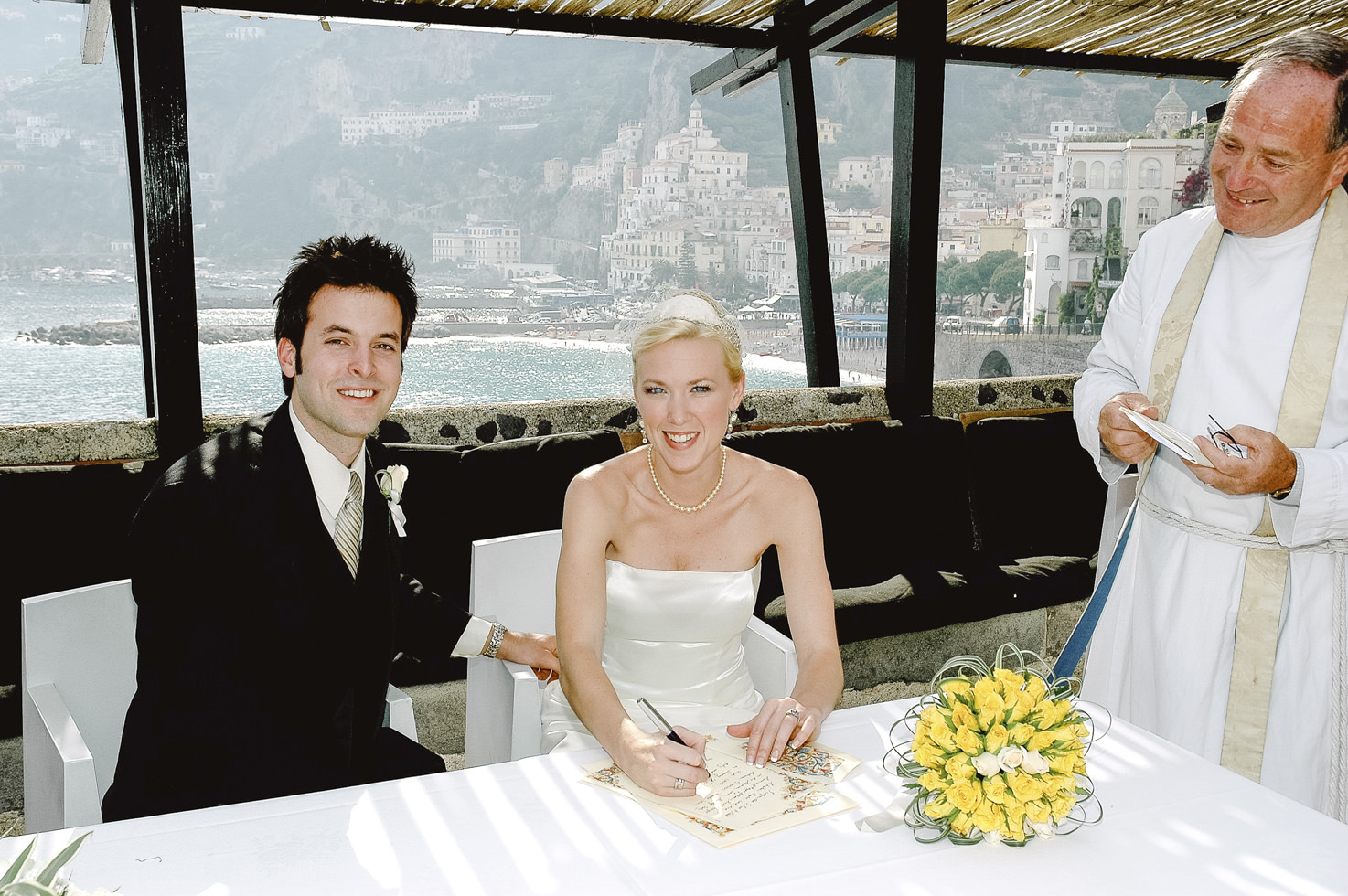 Protestant wedding ceremony in Amalfi