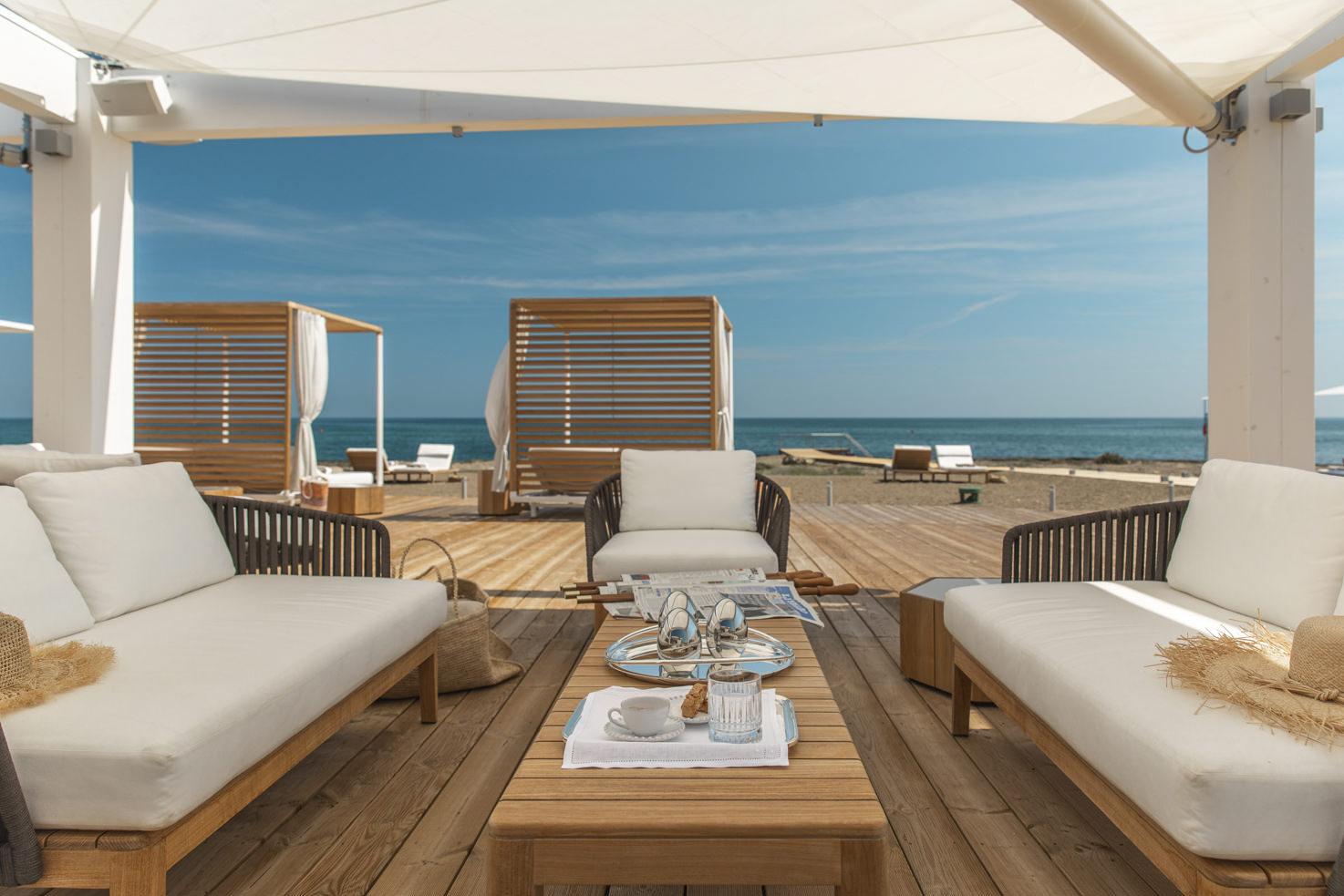 Sofa at Il Lido Beach Club