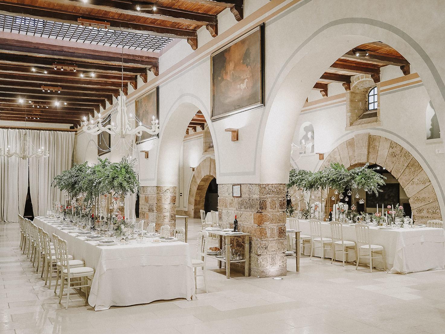 Wedding banquet at Castello Monaci