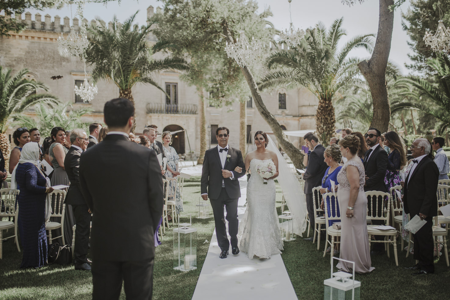 Wedding ceremony at Castello Monaci