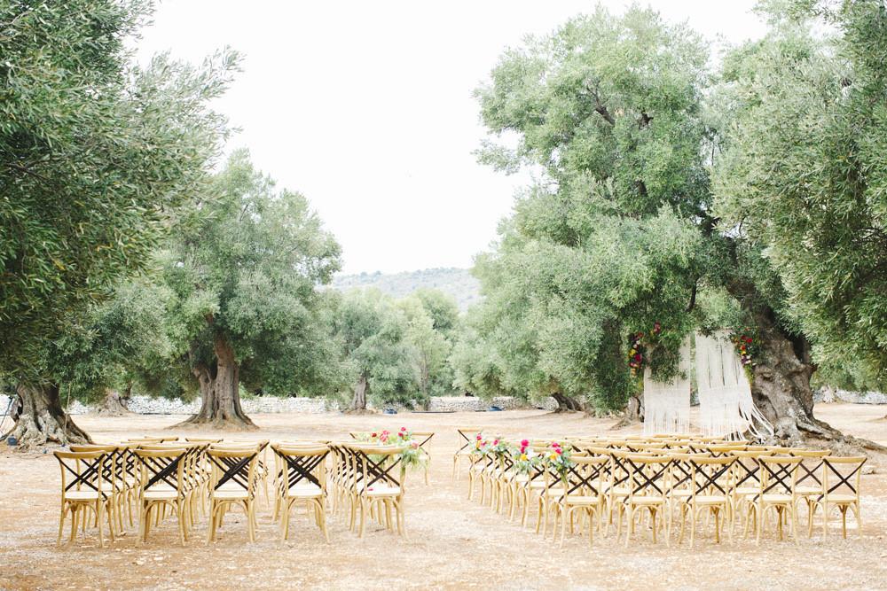 Wedding ceremony at Masseria Le Carrube
