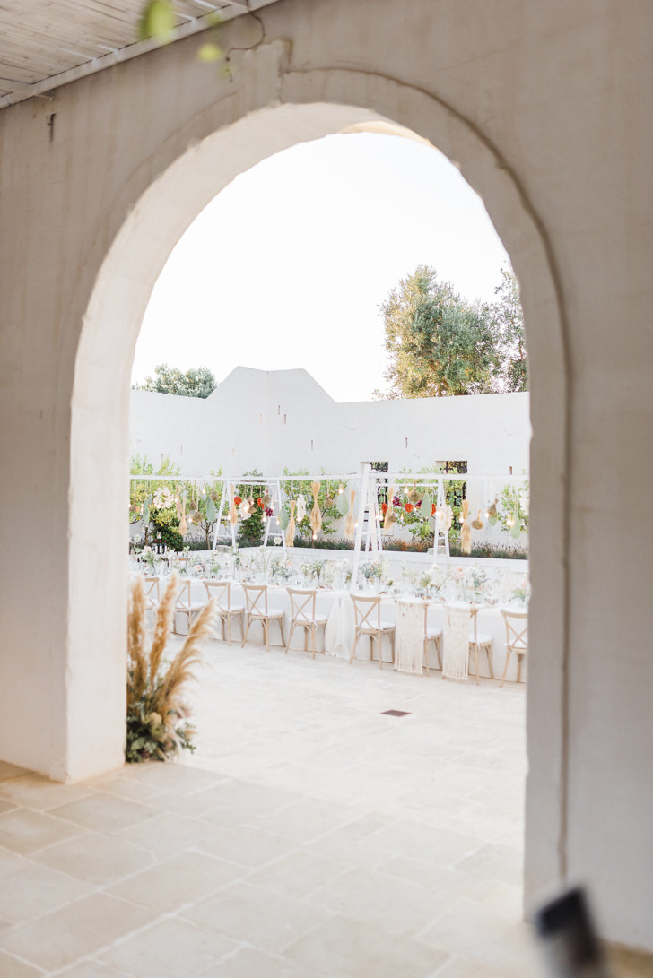 Wedding reception at the Masseria