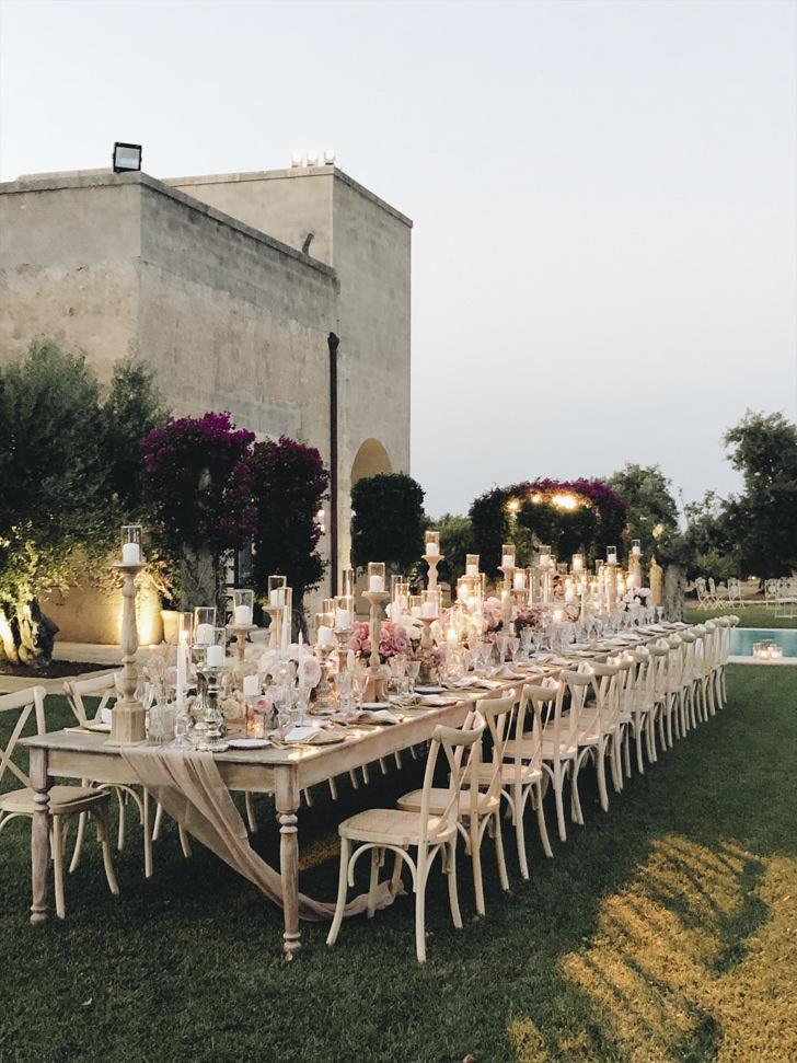 Wedding banquet at the Masseria