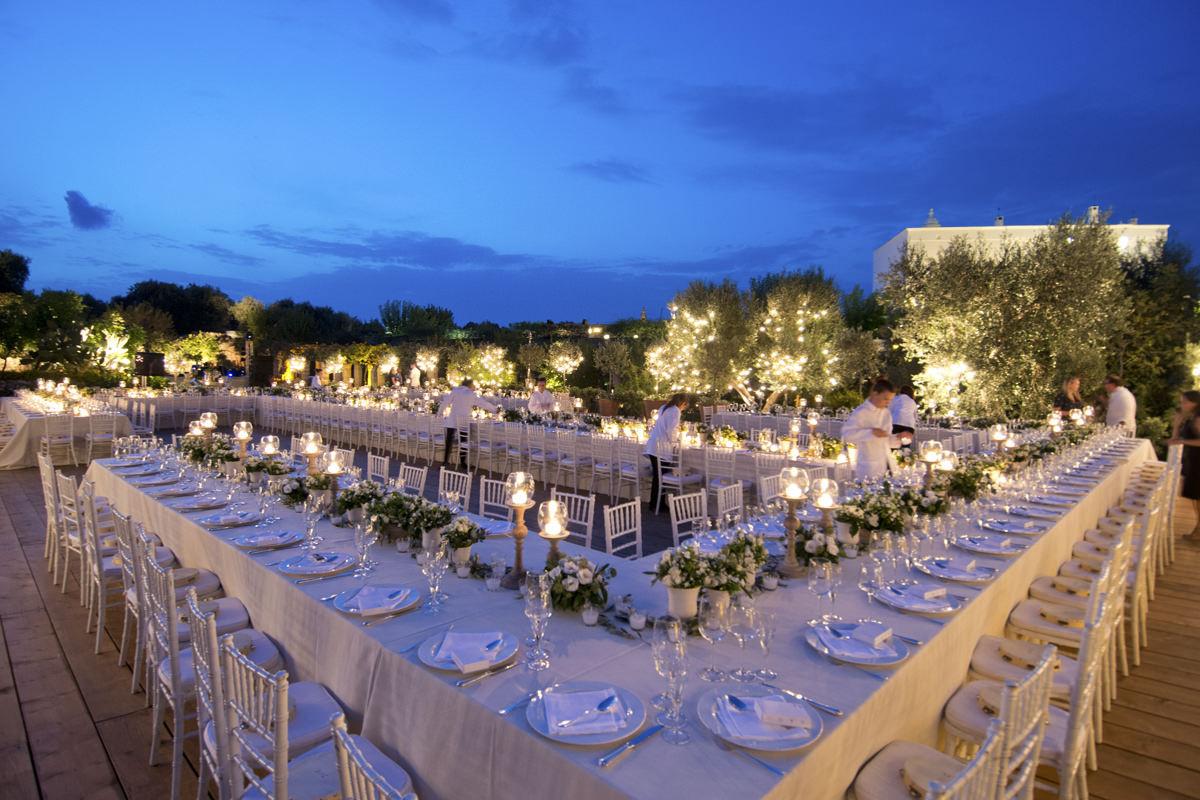 Wedding reception at Torre Coccaro