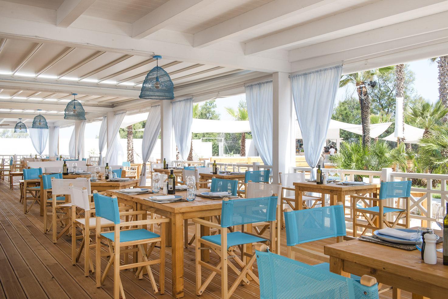 Torre Coccaro Beach Club restaurant