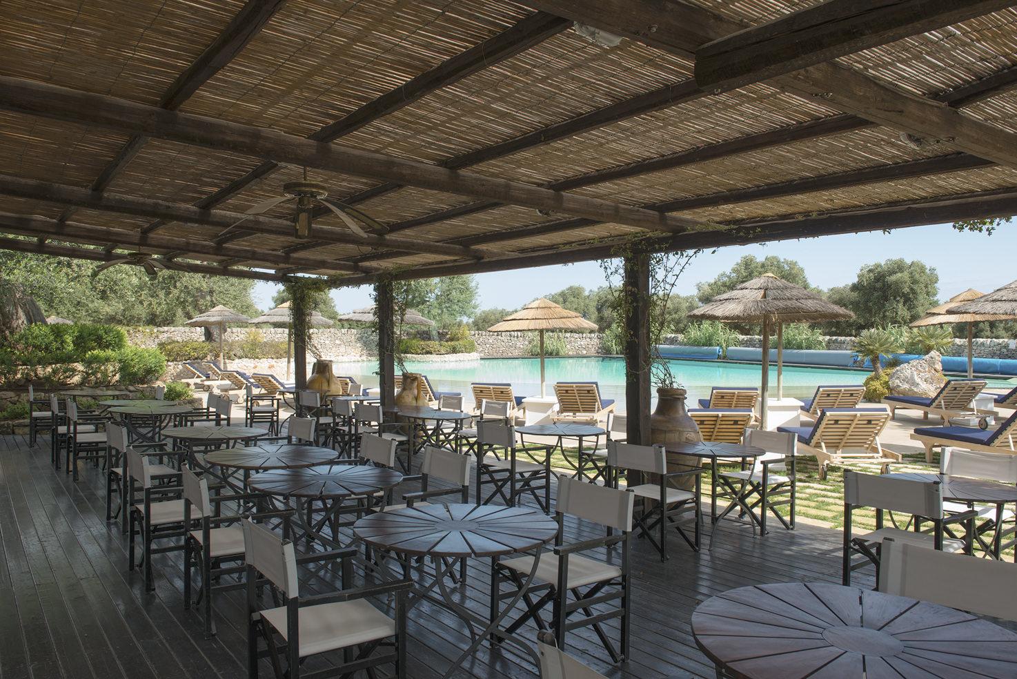 Pool restaurant at Torre Coccaro
