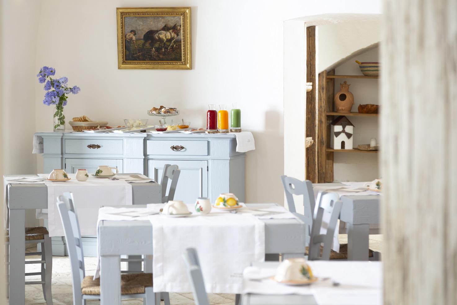 Interior of Masseria Borgo Mortella