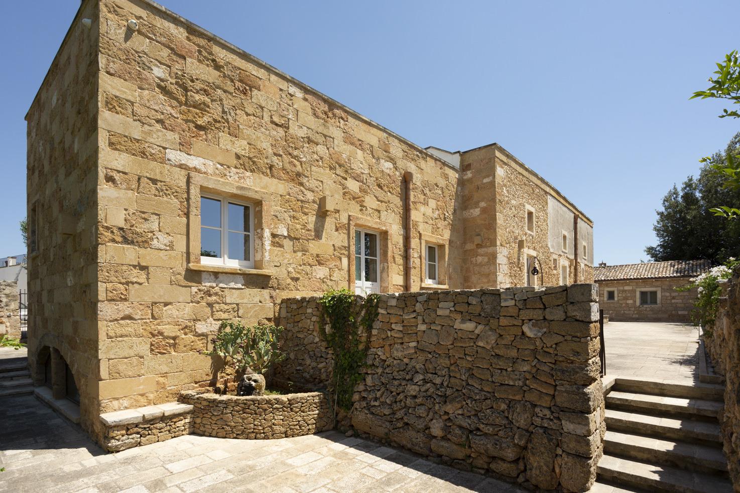 Façade of Masseria Borgo Mortella