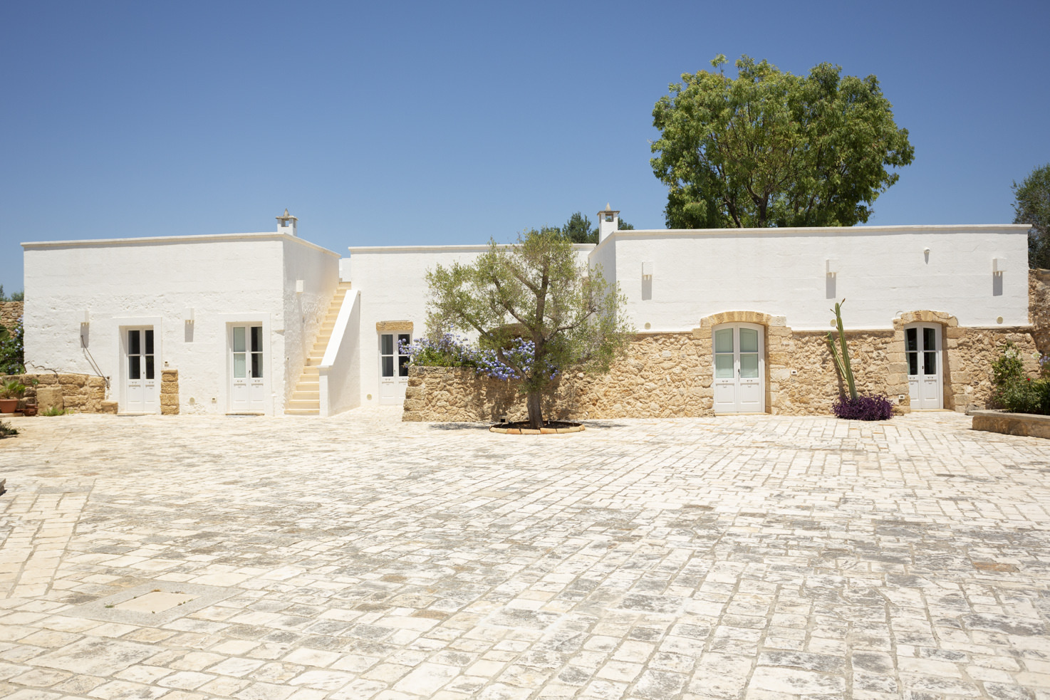 Courtyard of Masseria Borgo Mortella