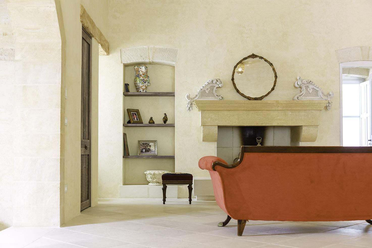 Foyer of Masseria Borgo Mortella