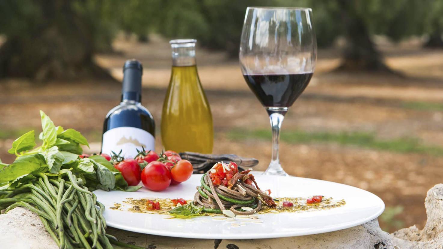 Vegetarian cuisine at Masseria Le Carrube
