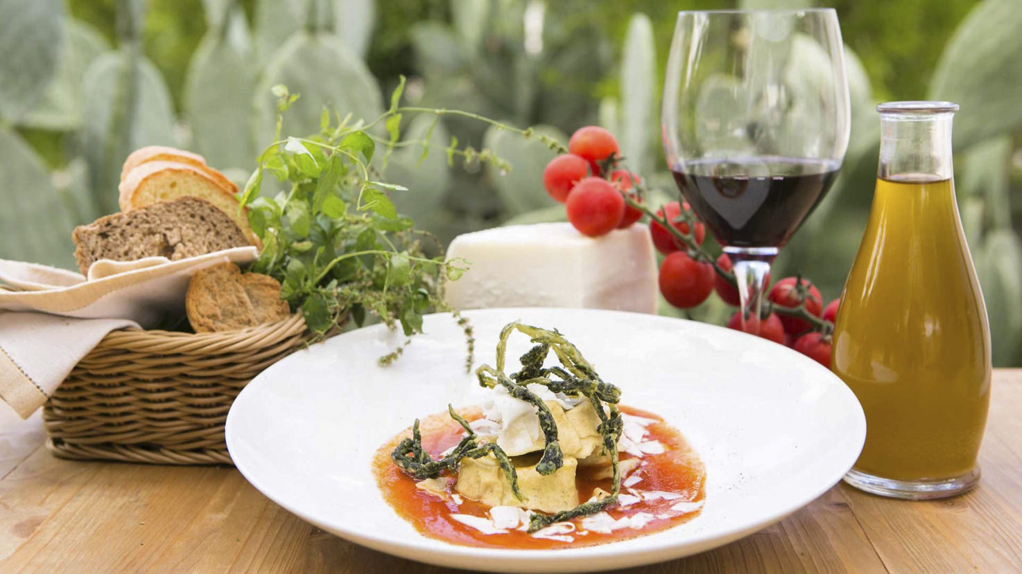 Italian cuisine at Masseria Le Carrube