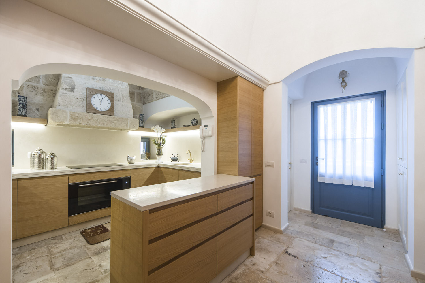 Kitchen in one of the suites