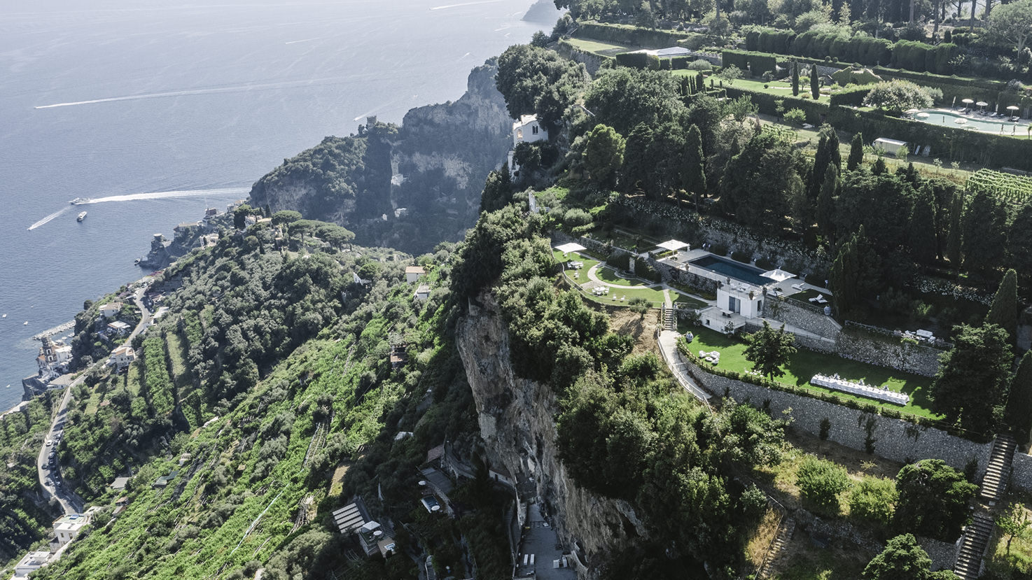 Aerial view of Villa La Rondinaia