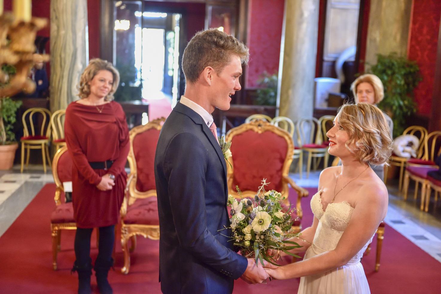 Rome civil wedding at Campidoglio