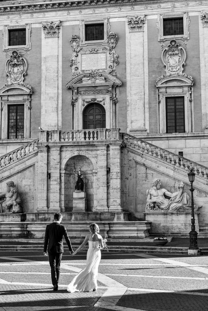 Façade of Campidoglio Palace
