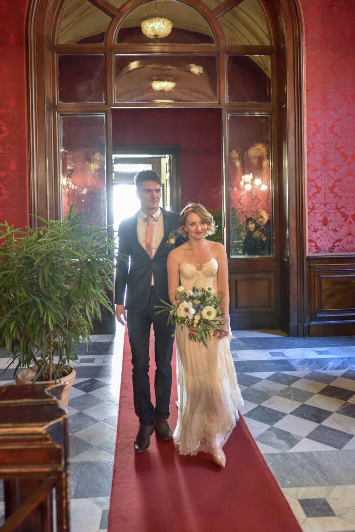 Arrival at Campidoglio Hall