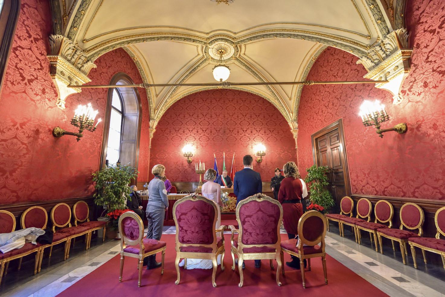Campidoglio Hall for civil weddings in Rome