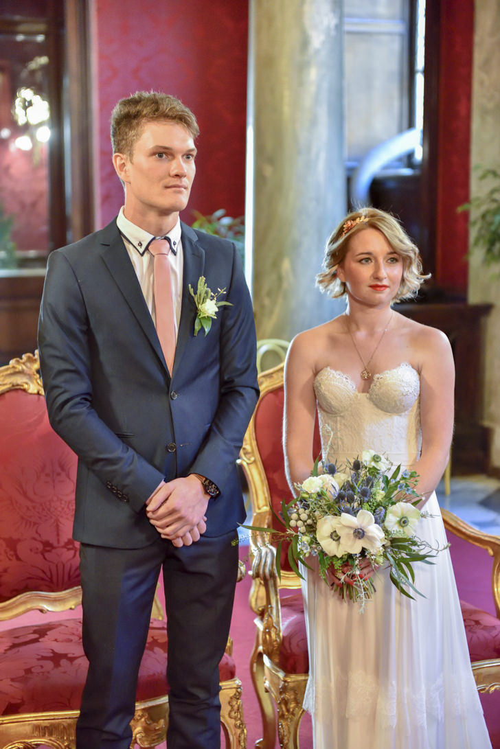 Civil ceremony at Campidoglio in Rome