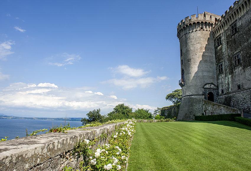 Gardens of Castello Odescalchi with lake view