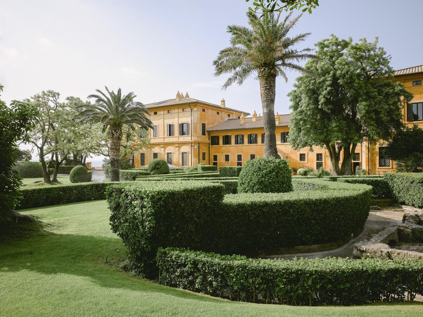 Park and gardens of La Posta Vecchia