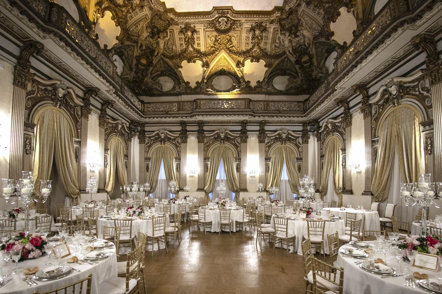 Wedding reception at Palazzo Brancaccio, Rome