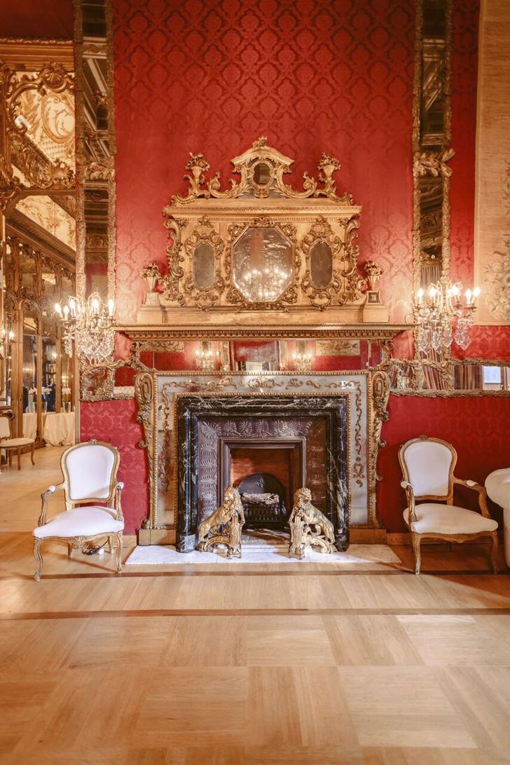 Baroque fireplace at Palazzo Brancaccio