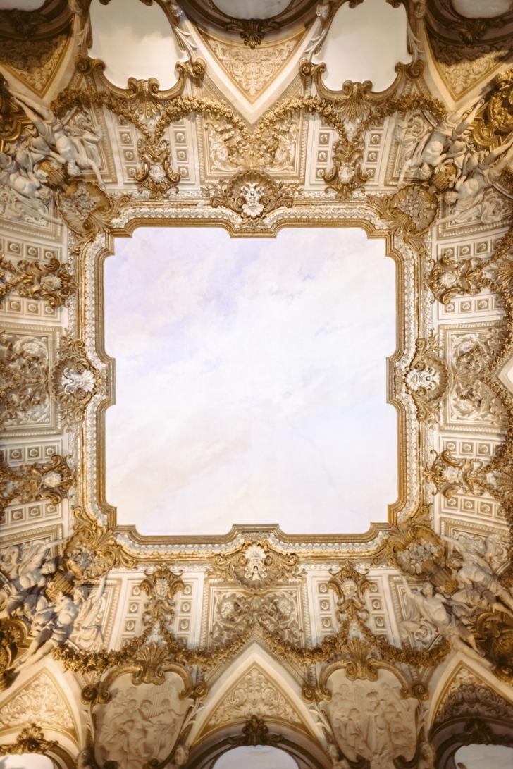 Baroque ceiling of Palazzo Brancaccio