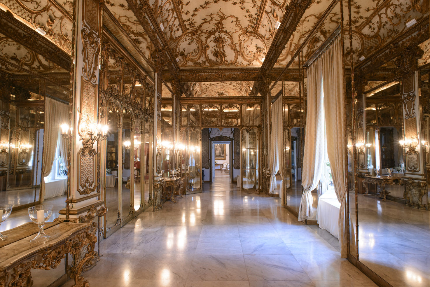 Baroque interior of Palazzo Brancaccio