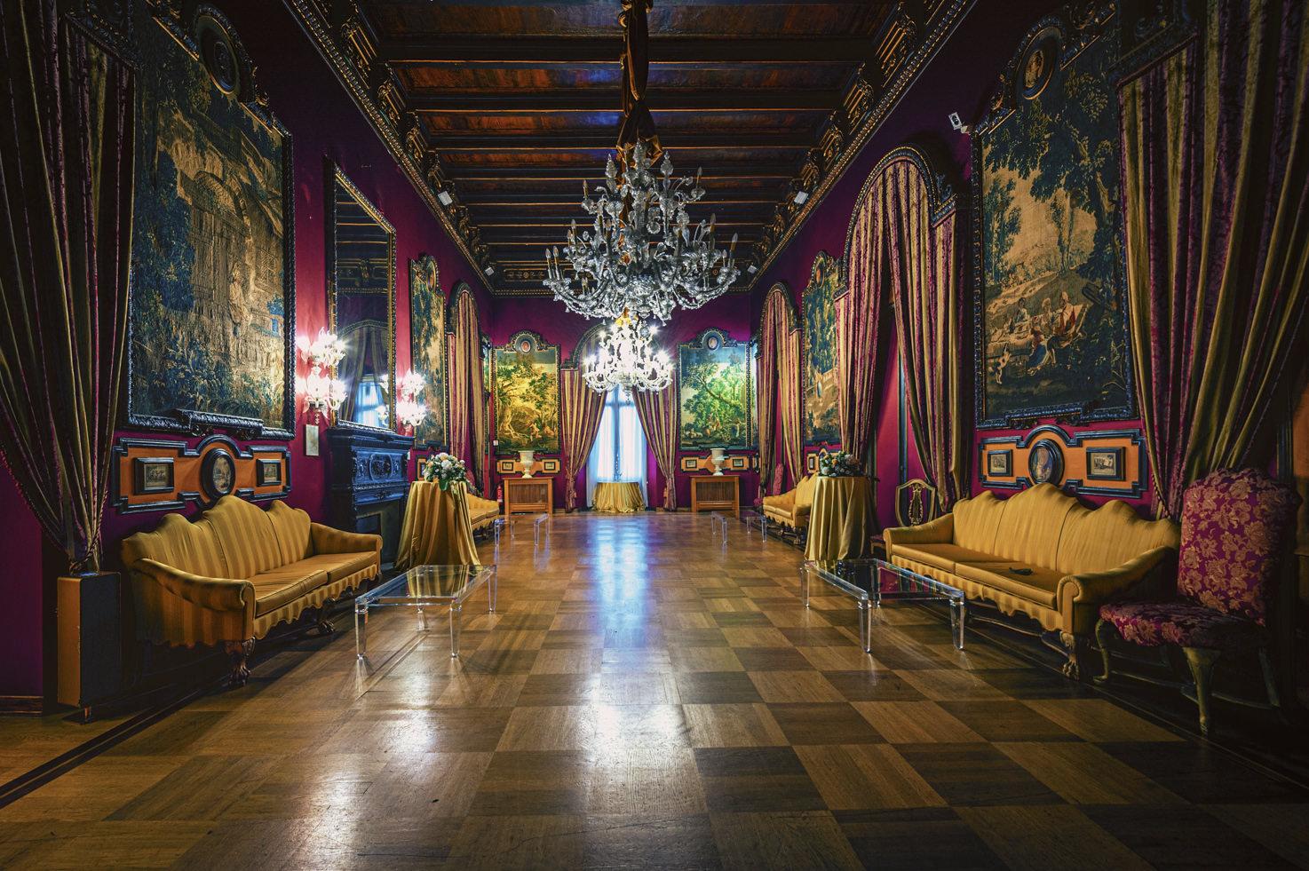 Baroque hall of Palazzo Brancaccio