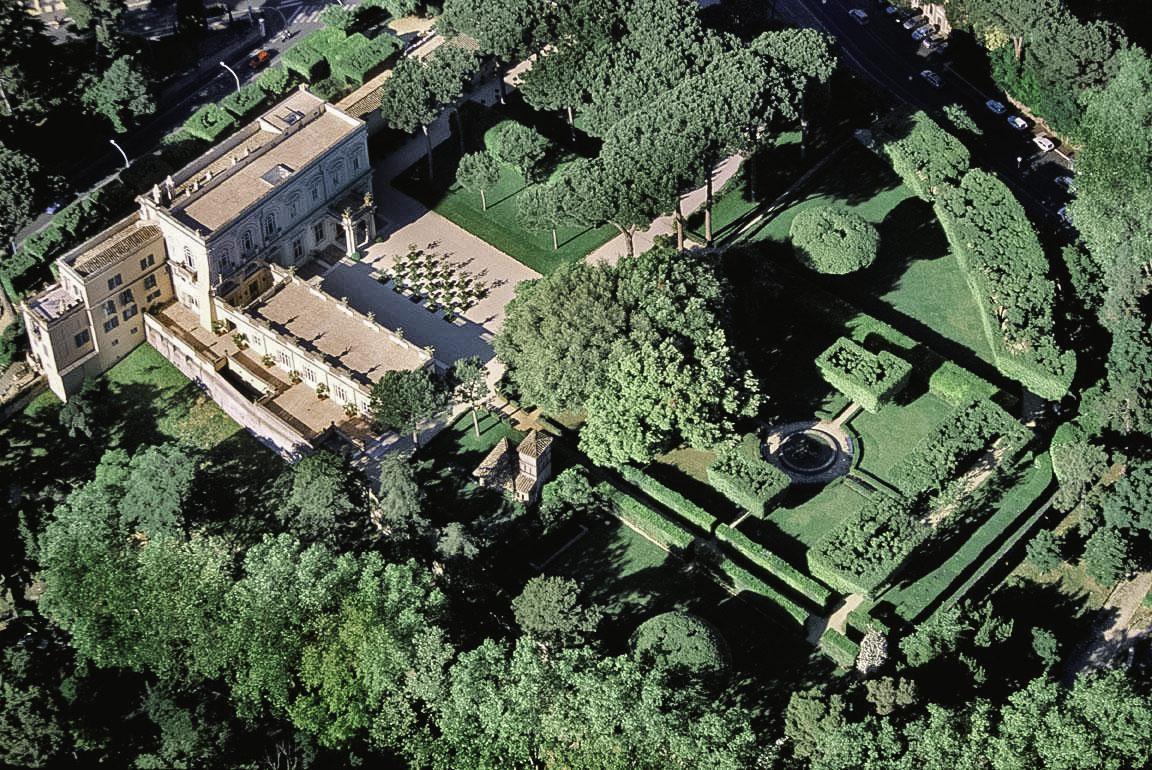 Aerial view of Villa Aurelia, Rome