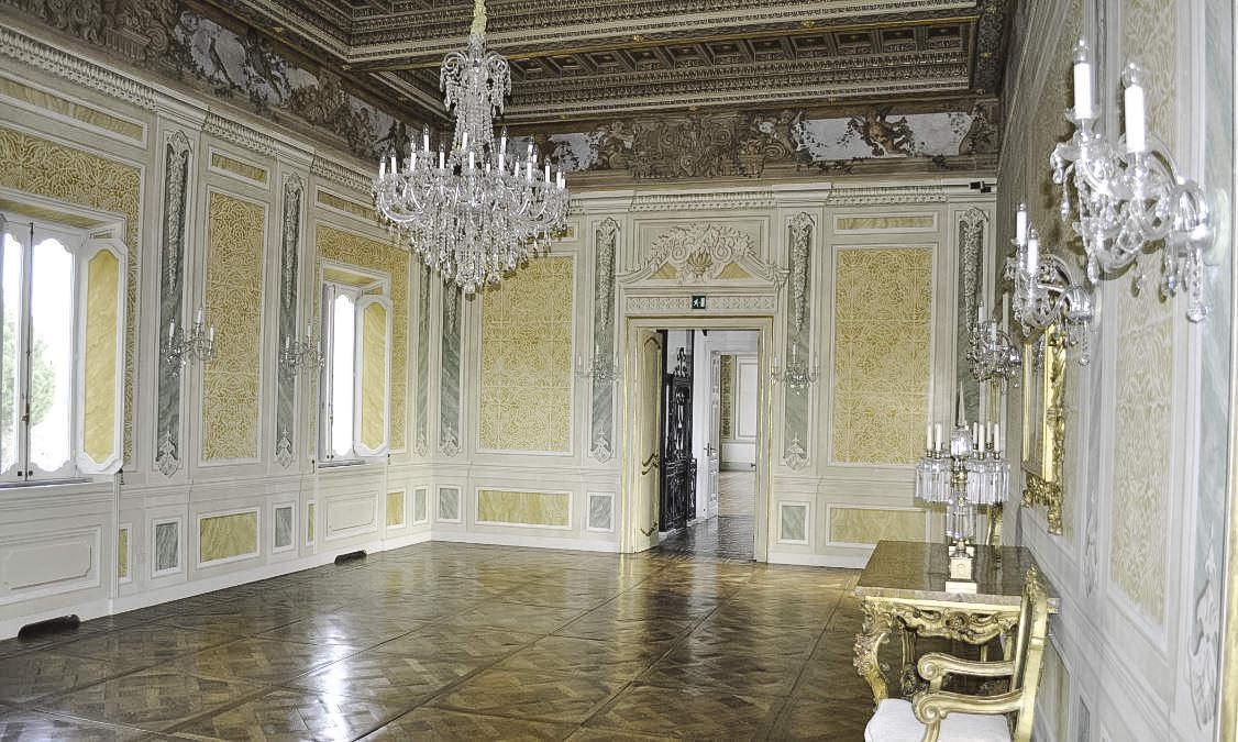 Interior of Villa Aurelia in Rome