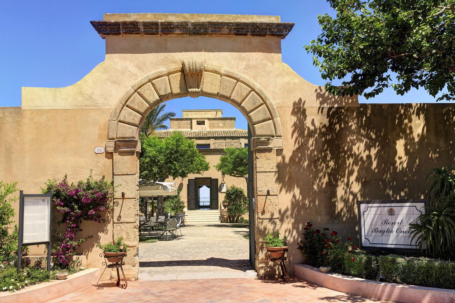 Entrance of Baglio Oneto in Sicily
