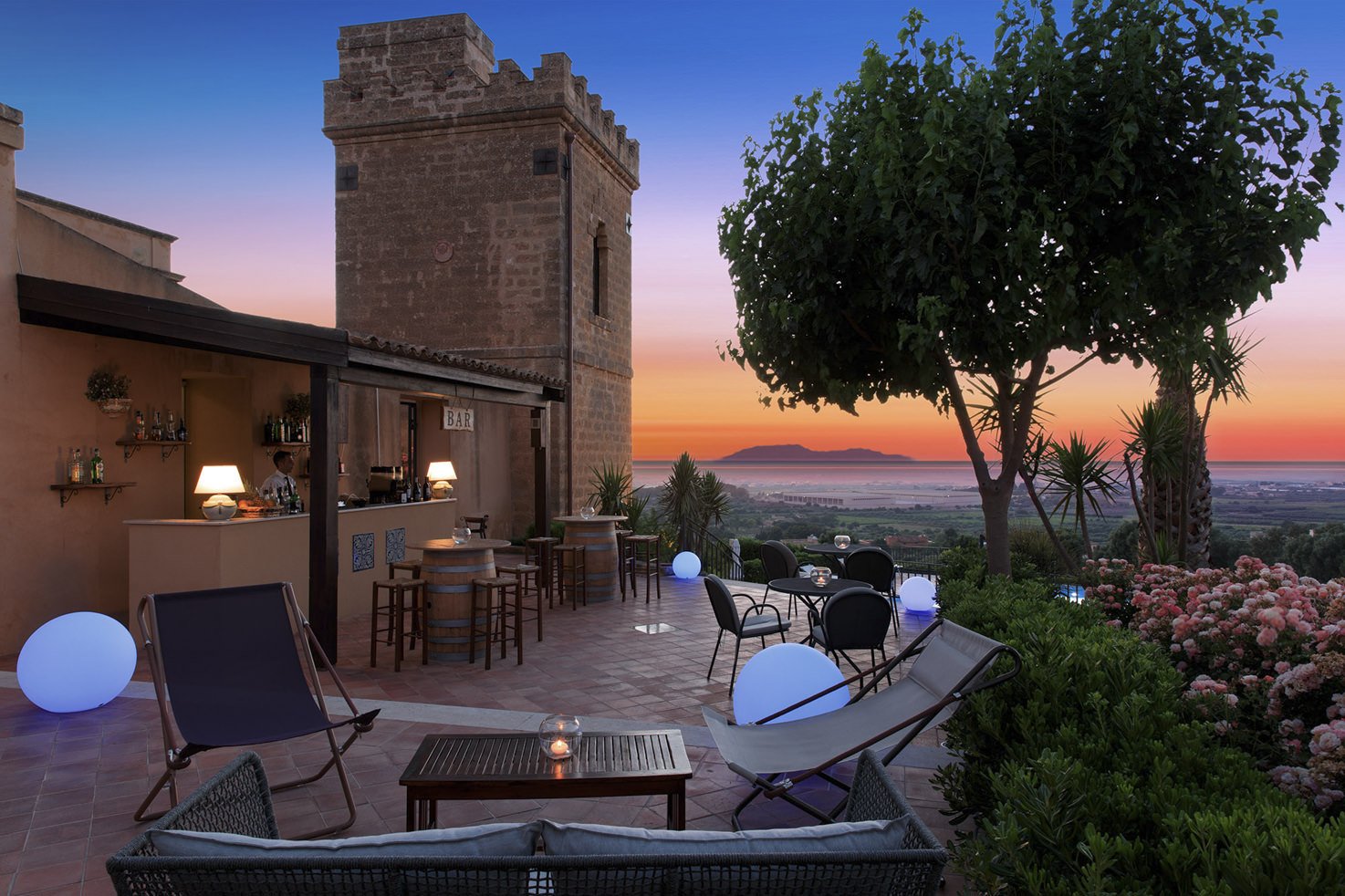 Aperitif on the terrace