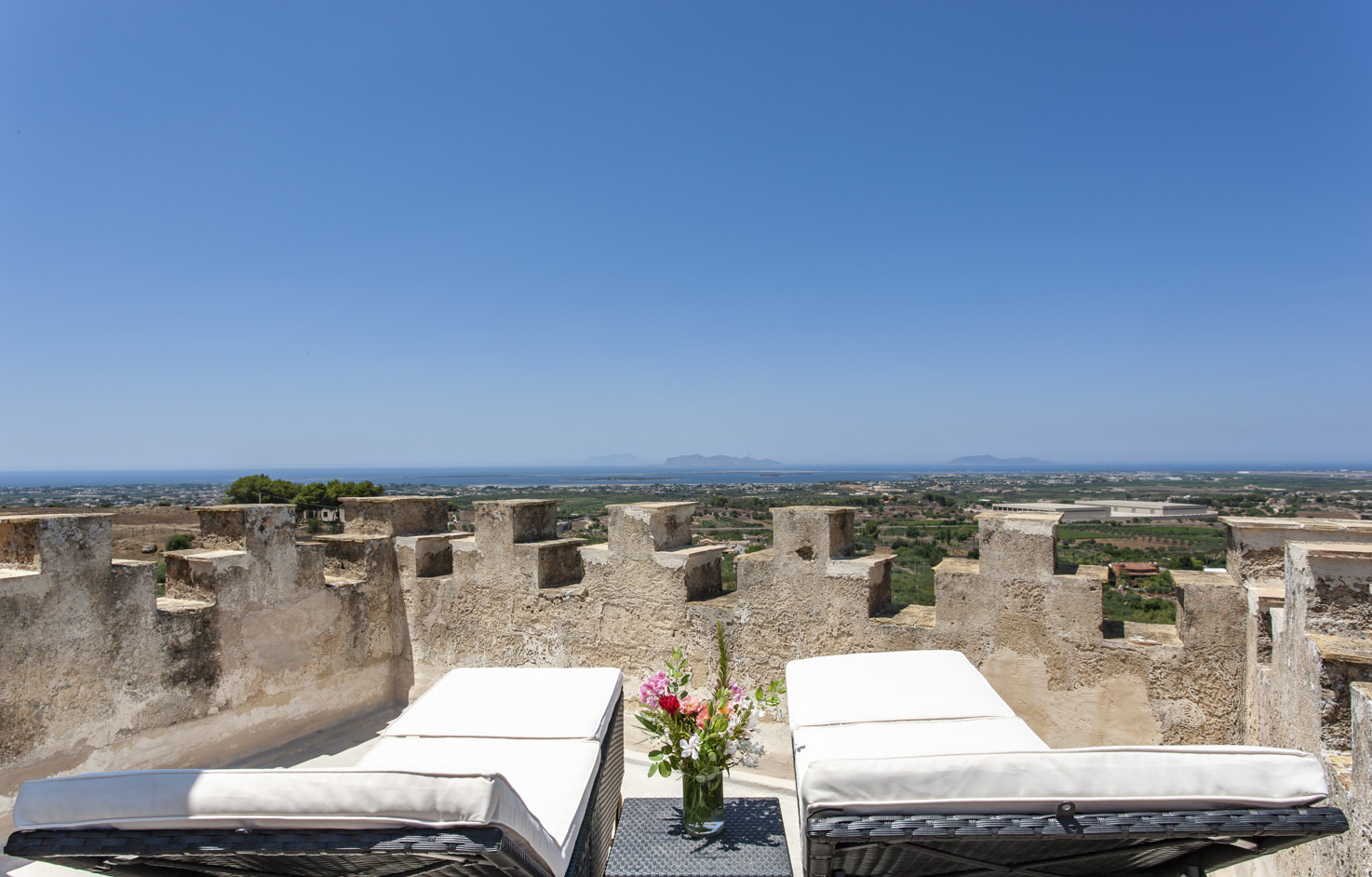 Sea view from the tower of Baglio Oneto