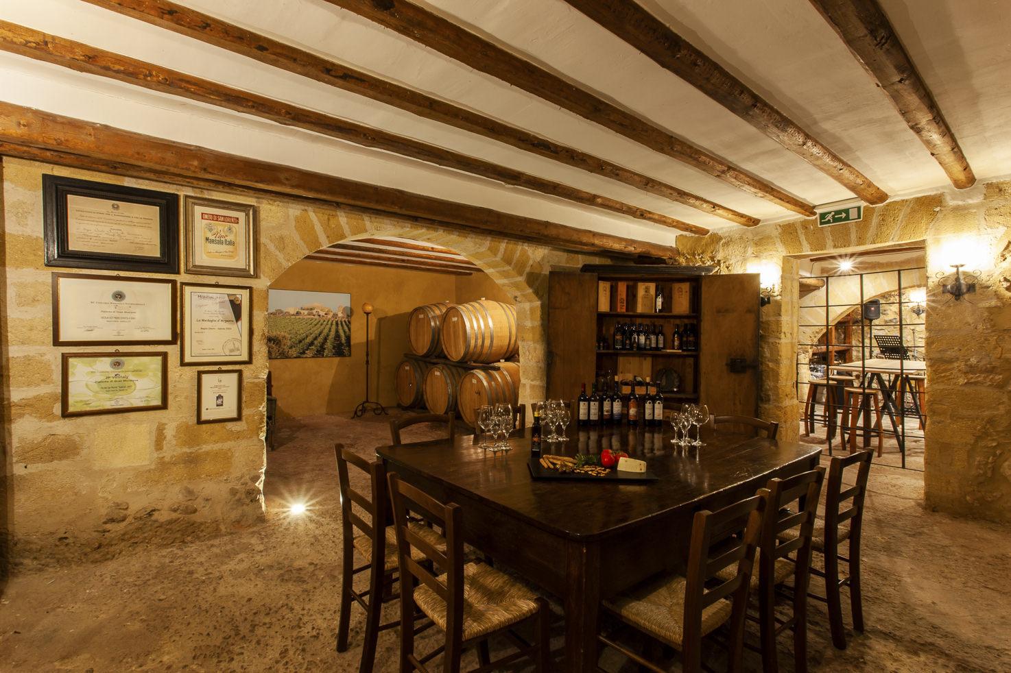Wine cellar for wine tasting